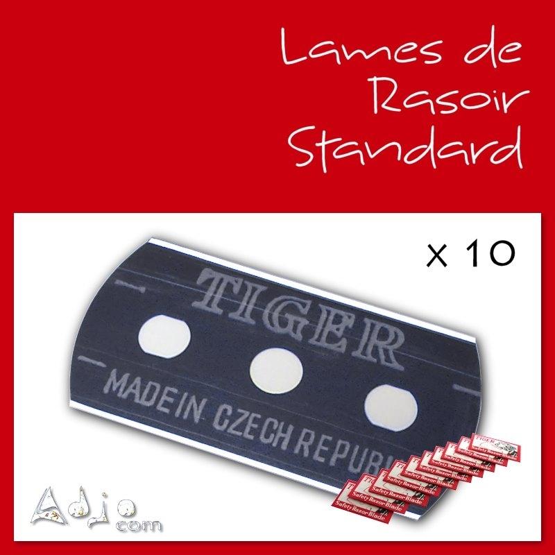 lames de rasoir standard x10 pour tissage cheveux adjocom. Black Bedroom Furniture Sets. Home Design Ideas