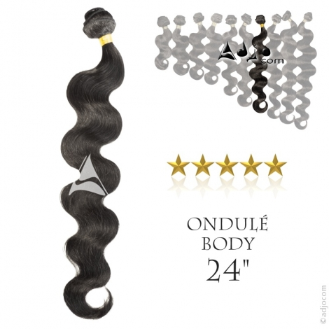 """Tissage brésilien ondulé Body Waves Vierge Remy 60 centimètres (24"""")"""