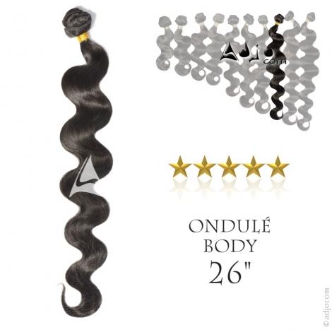 """Tissage brésilien ondulé Body Waves Vierge Remy 65 centimètres (26"""")"""