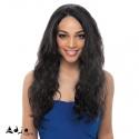 "Perruque Invisible Lace Wig Brésilienne Ondulée Body Waves Vierge Remy 22"""