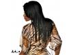 Coiffure Afro Cheveux lisses longs 45 centimètres