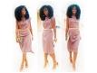Coiffure Afro Kinky tissage brésilien bouclé KINKY 16 pouces