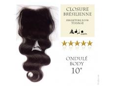 Closure Tissage brésilien Ondulé Body - Cheveux Vierges et Remy - 10 pouces