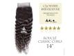 Closure (fermeture) Tissage brésilien bouclé - Cheveux Vierges Remy - 14 pouces