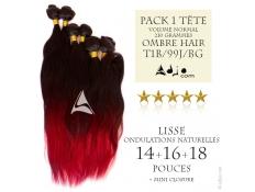 Pack Tissages brésiliens Ondulés Naturels VN 14-16-18 Ombre Hair 1B/99J/BG
