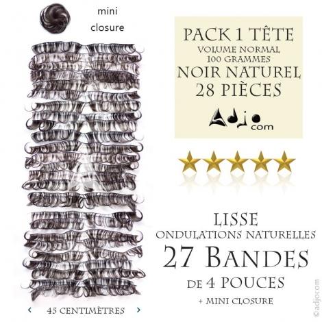 Pack Tissages brésiliens Ondulés Naturels - Coupe courte 4 pouces