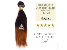 Tissage brésilien Ombre Hair 1B/30 Ondulé Naturel 14""