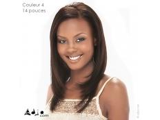 Tissage cheveux naturels Lisses - 14 pouces, couleur 4