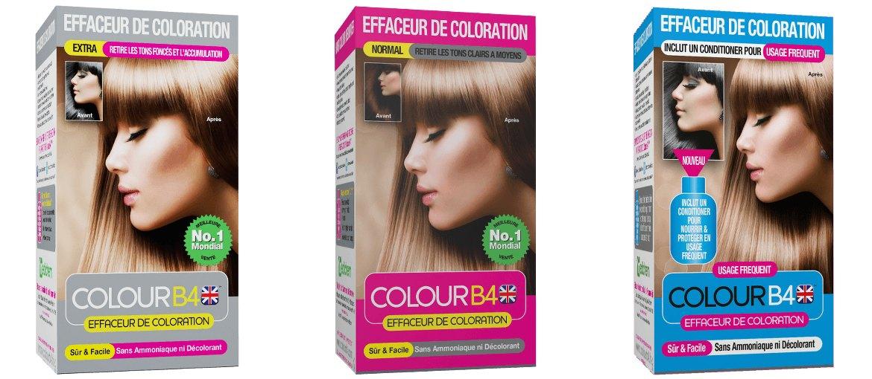 coloration rate ou envie de revenir votre couleur dorigine leffaceur de coloration ou dmaquillant pour cheveux de la marque colour b4 - Produit Coloration Cheveux
