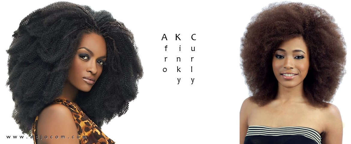 Cheveux Afro Kinky Curly