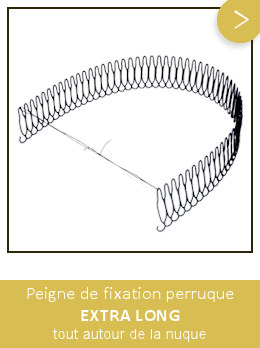 peigne fixation perruque extra long