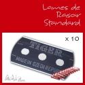 Lames de Rasoir Standard x10 pour Tissage Cheveux