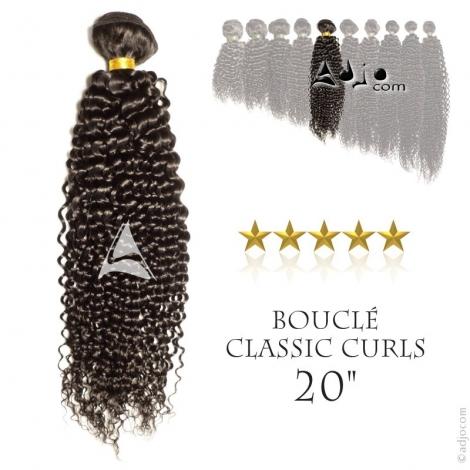 """Tissage brésilien bouclé Classic Curls Vierge Remy 50 centimètres (20"""")"""