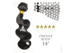 """Tissage brésilien ondulé Body Waves Vierge Remy 35 centimètres (14"""")"""