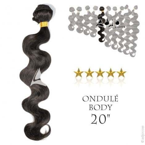 """Tissage brésilien ondulé Body Waves Vierge Remy 50 centimètres (20"""")"""