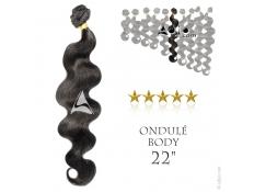 """Tissage brésilien ondulé Body Waves Vierge Remy 55 centimètres (22"""")"""