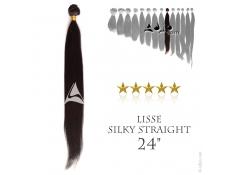 """Tissage brésilien Lisse - Cheveux Brésiliens Naturels Vierges et Remy - 24"""", 100 grammes"""