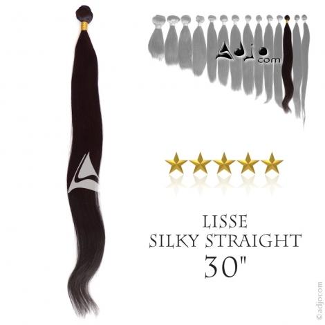 """Tissage brésilien Lisse - Cheveux Brésiliens Naturels Vierges et Remy - 30"""", 100 grammes"""