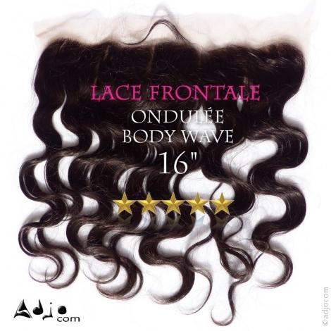 Lace Frontale Tissage brésilien ondule  body Vierge Remy 16 pouces
