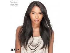 """Perruque invisible Lace Wig Brésilienne - Cheveux Brésiliens Naturels Vierge Remy lisses 24"""" - SENSATIONNEL"""