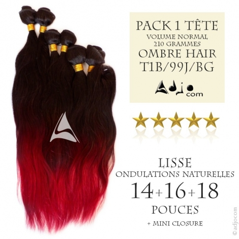 Tissages brésiliens Ondulés Ombre Hair - Mi-longs, volume Normal (210 grammes)