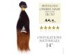 Tissage brésilien Ombre Hair 1B/30 - Cheveux Brésiliens Naturels à ondulations naturelles - 14 pouces