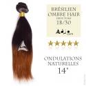 """Tissage brésilien Ombre Hair 1B/30 Ondulé Naturel 14"""""""