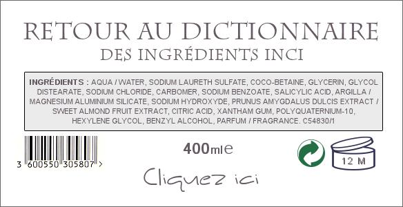 Termes INCI des ingrédients cosmétiques