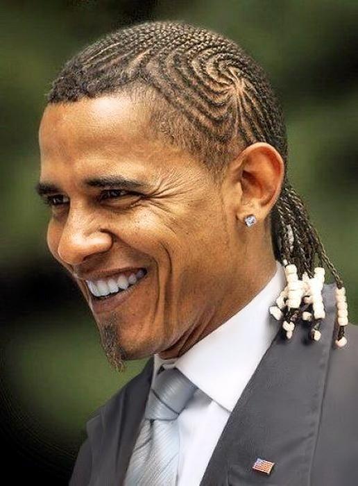 Barack OBAMA et ses tresses couchées
