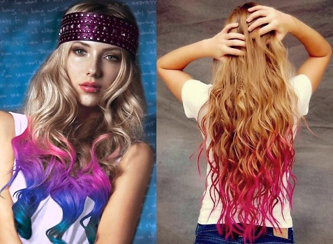 Dip Dyed Hairstyle