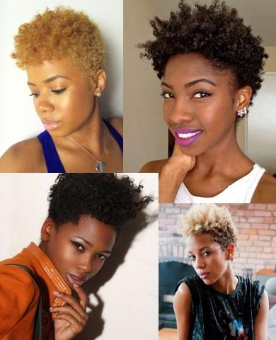 Pixie cuts coiffures courtes d structur es sauvageonnes adjocom - Coupe courte afro naturel ...