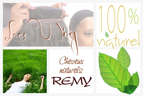Perruque invisible Lace Wig Cheveux 100% naturels REMY