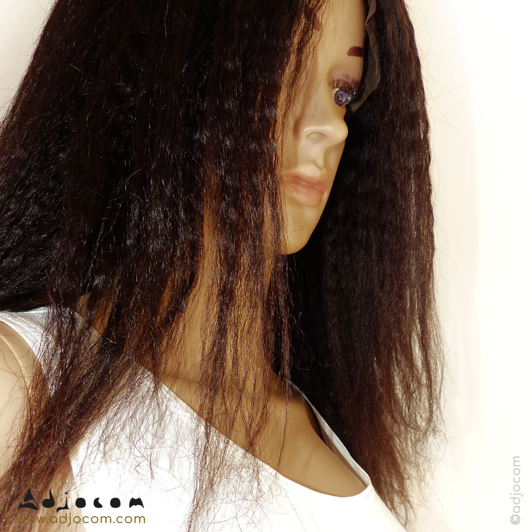 gros plan sur le visage et la coiffure