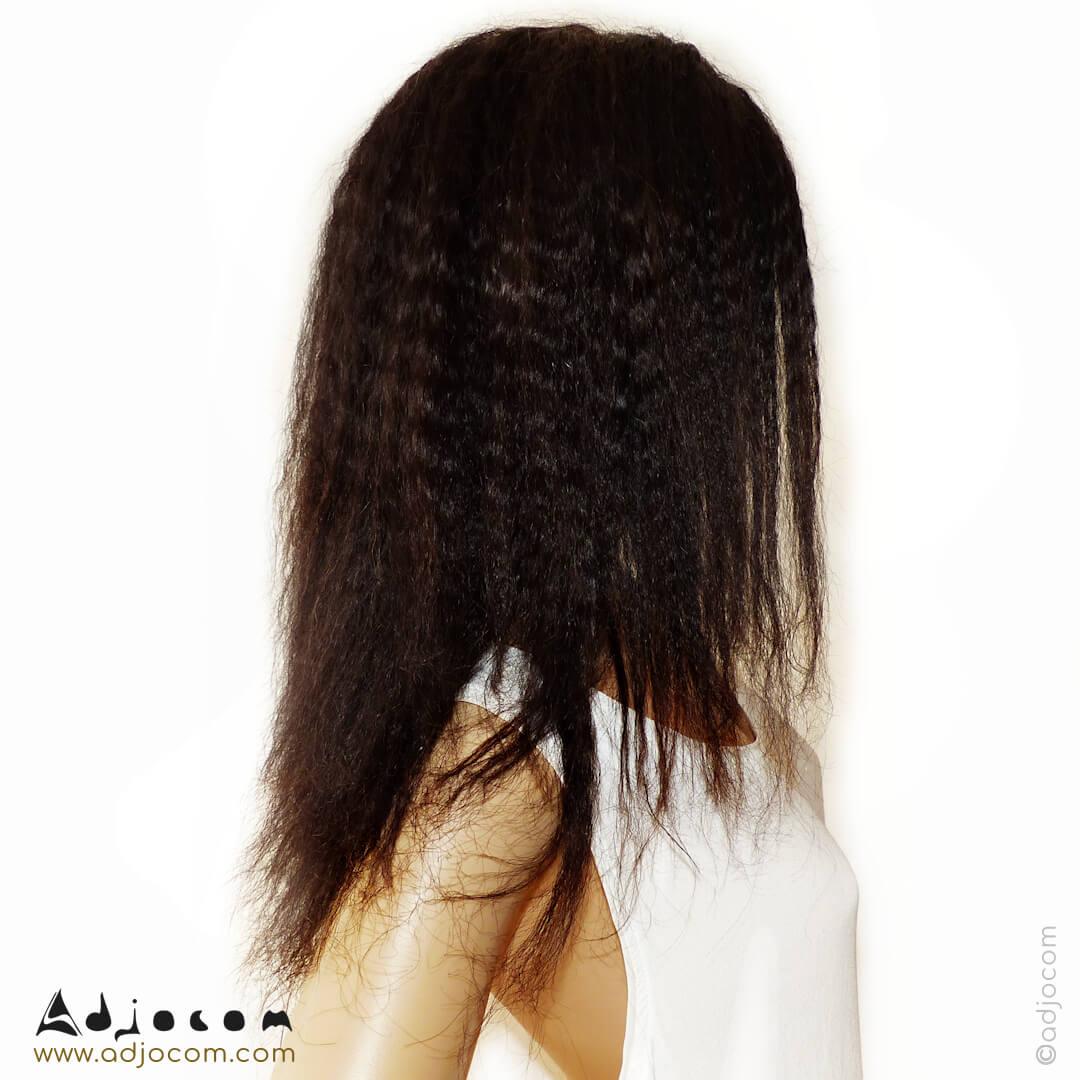 coiffure vue de profil droit